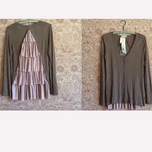 NWT boutique ruffleback cardigan.   Medium.